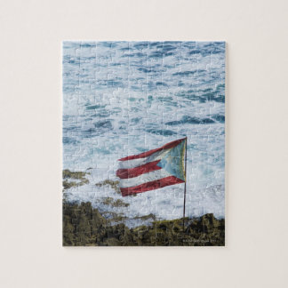Puerto Rico, Old San Juan, flag of Puerto rice Jigsaw Puzzle