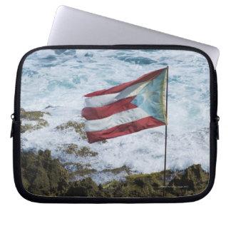 Puerto Rico, Old San Juan, flag of Puerto rice Laptop Computer Sleeves