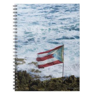 Puerto Rico, Old San Juan, flag of Puerto rice Notebook