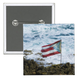 Puerto Rico, Old San Juan, flag of Puerto rice Pinback Button