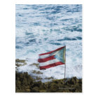 Puerto Rico, Old San Juan, flag of Puerto rice Postcard