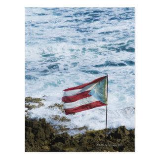 Puerto Rico, Old San Juan, flag of Puerto rice Postcard