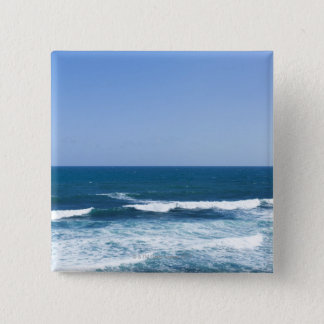 Puerto Rico, Old San Juan, seascape Pinback Button