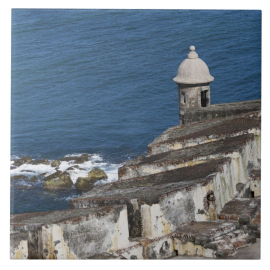 Puerto Rico, Old San Juan, section of El Morro Ceramic Tile