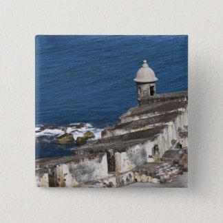 Puerto Rico, Old San Juan, section of El Morro Pinback Button