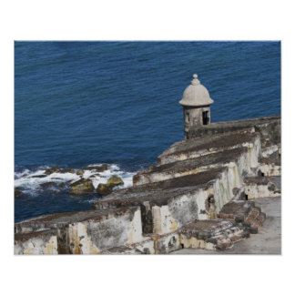 Puerto Rico, Old San Juan, section of El Morro Poster