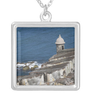 Puerto Rico, Old San Juan, section of El Morro Silver Plated Necklace