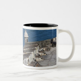 Puerto Rico, Old San Juan, section of El Morro Two-Tone Coffee Mug