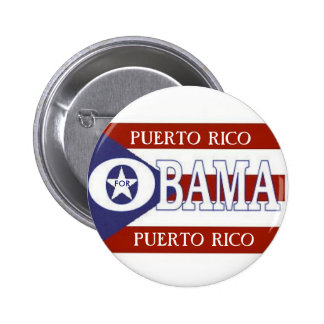 PUERTO RICO PARA el botón de OBAMA Pin