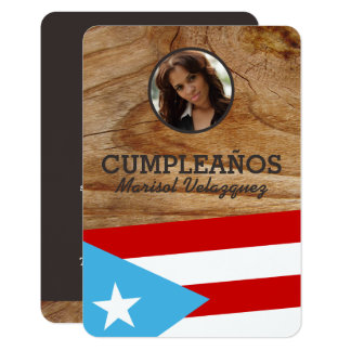 Puerto Rico Party: Flag: Personalized Photo Card
