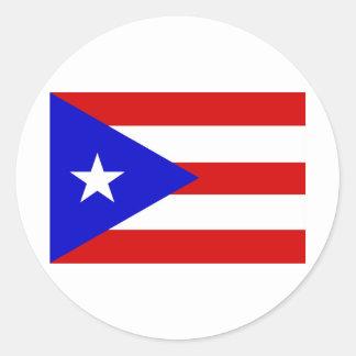 Puerto Rico Etiqueta Redonda