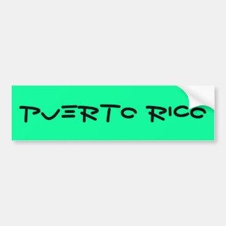 Puerto Rico Pegatina Para Auto