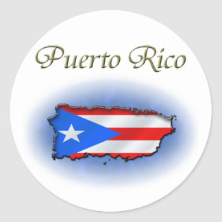 Puerto Rico Pegatina Redonda