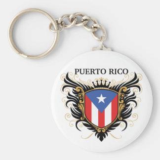 Puerto Rico [personalice] Llavero Redondo Tipo Pin