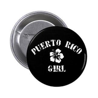 Puerto Rico Pink Girl Pins