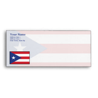 Puerto Rico Plain Flag Envelope