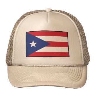 Puerto Rico Plain Flag Hats