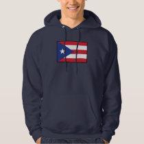 Puerto Rico Plain Flag Hoodie