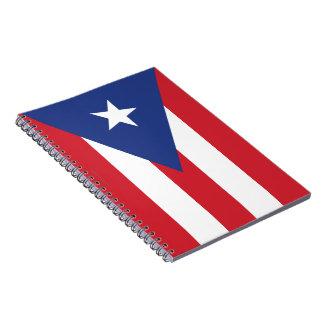 Puerto Rico Plain Flag Spiral Notebook