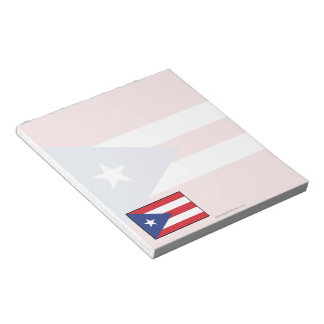 Puerto Rico Plain Flag Notepad