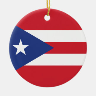 Puerto Rico Plain Flag Christmas Ornaments