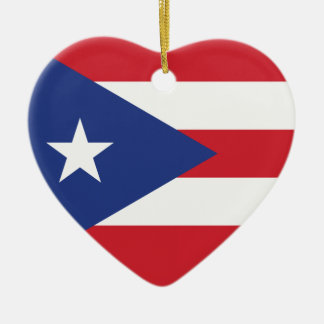 Puerto Rico Plain Flag Christmas Tree Ornaments