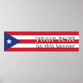 Puerto Rico Plain Flag Poster