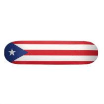 Puerto Rico Plain Flag Skateboard