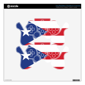 Puerto Rico Plain Flag PS3 Controller Skin
