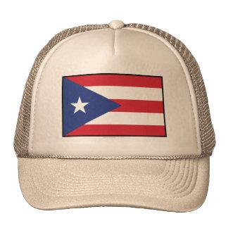 Puerto Rico Plain Flag Trucker Hat