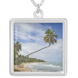 Puerto Rico. Playa Puerto Rico de Tres Palmitas Colgante Cuadrado