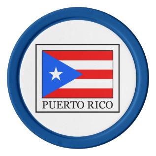 Puerto Rico Poker Chips Set at Zazzle