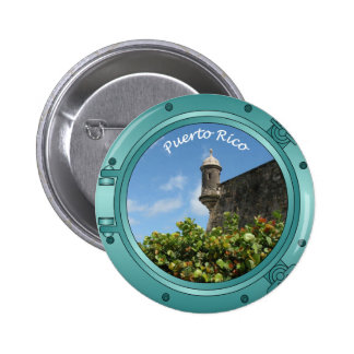 Puerto Rico Porthole 2 Inch Round Button