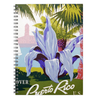 Puerto Rico poster Spiral Note Book