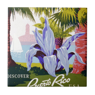Puerto Rico poster Tile