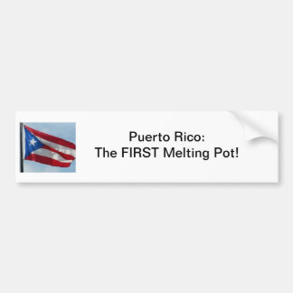 ¡Puerto Rico, primer crisol! Pegatina Para Auto