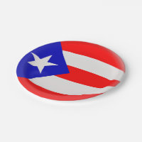 Puerto Rico Puerto Rican Flag Paper Plate