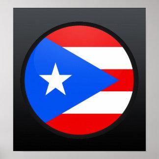 Puerto Rico quality Flag Circle Poster