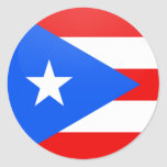 Puerto Rico quality Flag Circle Stickers