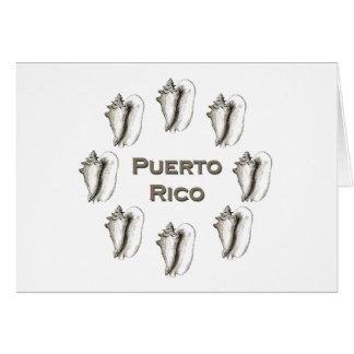 Puerto Rico Queen Conch Cards