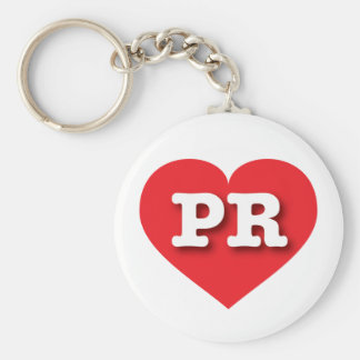Puerto Rico Red Heart - Big Love Keychain