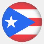 Puerto Rico redondo Pegatina Redonda