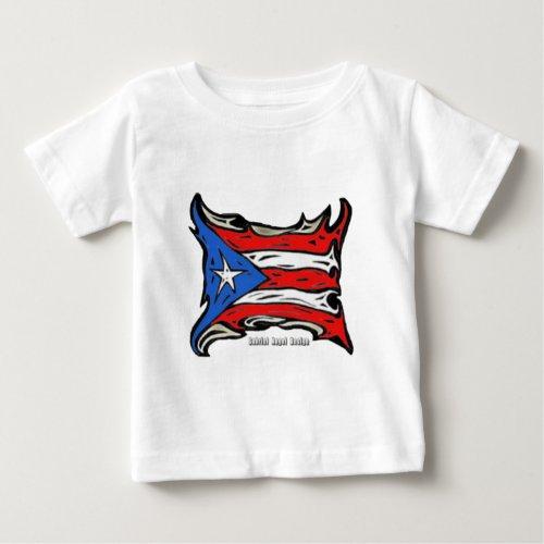 Puerto Rico Reggaeton Flag Baby T_Shirt
