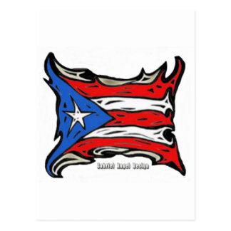 Puerto Rico Reggaeton Flag Postcard