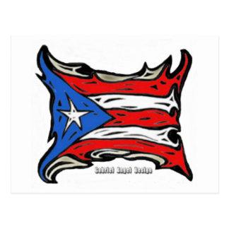 Puerto Rico Reggaeton Flag Post Card