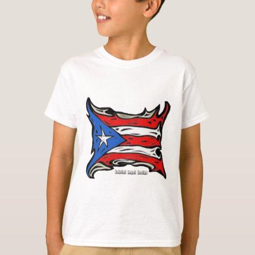 Puerto Rico Reggaeton Flag T_Shirt