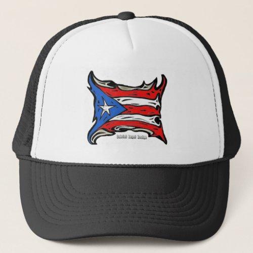 Puerto Rico Reggaeton Flag Trucker Hat