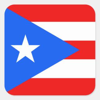 Puerto Rico/Rican Flag. United States, USA, U.S.A. Square Sticker