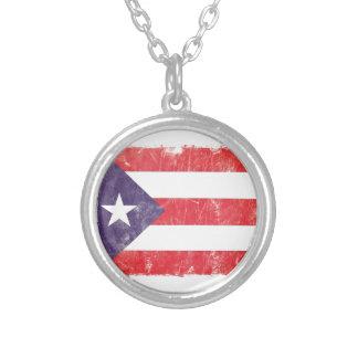 Puerto Rico Round Pendant Necklace