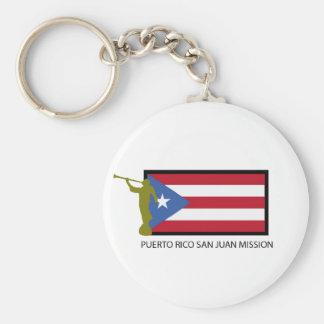 PUERTO RICO SAN JUAN MISSION LDS CTR BASIC ROUND BUTTON KEYCHAIN